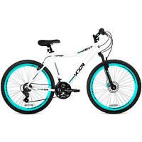 26 Women Mountain Bike Aluminium 21 Speed Bicycle White Teal