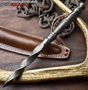 Cutlery Salvation Custom Handmade Damascus Kris Dagger Knife |
