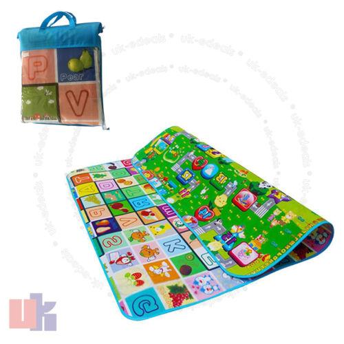 200 x 180cm 2 Side Kids Crawling Educational Game Baby Play Mat Soft Foam Carpet
