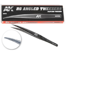 Details about  /HG Angled Tweezers Flat End AK Interactive AK9162 Hobby Tool