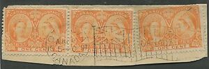 CANADA-51-USED-3-COPIES-ON-PIECE-DATED-FLAG-CANCEL