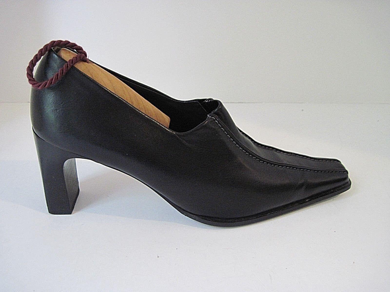 classico senza tempo PAUL verde Handmade Donna Donna Donna  nero Leather Square Toe Heels Pumps  US 8.5  Garanzia del prezzo al 100%