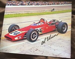 Bobby Unser Signed Indy 500 Indianapolis Photo 8 X 10 Autographed 1968
