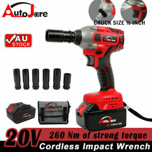 20Volt Cordless Electric Impact Wrench With BONUS Power Driver Tool Set+Battery
