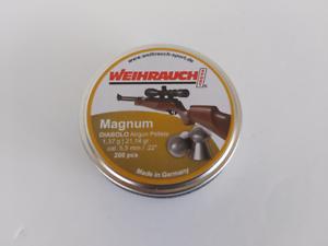 PELLET Magnum Target Field Weihrauch .22 200 per Pistola ad Aria Fucile PISTO 5.51mm