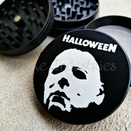 Halloween Michael Myers Horror Theme Grinder For Cooking Herb Spices 63mm