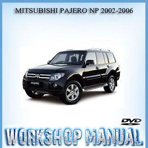 mitsubishi pajero np 2002 2006 workshop repair service manual in rh ebay com au 2018 Mitsubishi Pajero 2017 Mitsubishi Pajero
