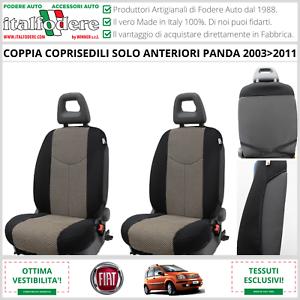 COPPIA COPRISEDILI Anteriori FIAT PANDA 2003>2011 Fodere Foderine Beige 40