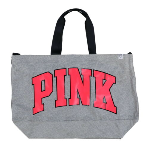 Victoria/'s Secret Pink Tote Bag Shopper Carry All Logo Large Casual Travel New