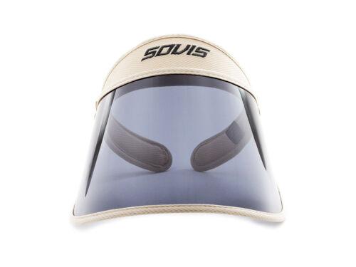 SOVIS-SKYBLUE Extended 99/%UVB//97/%UVA1 Facial Protection Visor worldwide patented