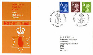 23-JULY-1980-ALL-3-N-IRELAND-REGIONAL-DEFINITIVES-PO-FIRST-DAY-COVER-BELFAST-SHS