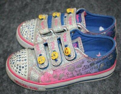 Hizo un contrato esqueleto los  Girls Skechers TWINKLE TOES SHUFFLES GLITTER GIRLY Shoes 411J 10923L  mi-tiles.com