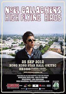 NOEL-GALLAGHER-039-S-HIGH-FLYING-BIRDS-2012-HONG-KONG-CONCERT-TOUR-POSTER-Oasis-Rock