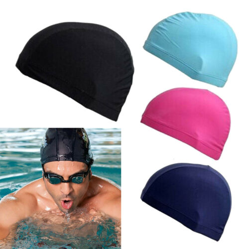4PCS Unisex Elastic Swimming Cap Nylon Bathing Swim Hat Caps Cover USWarehouse