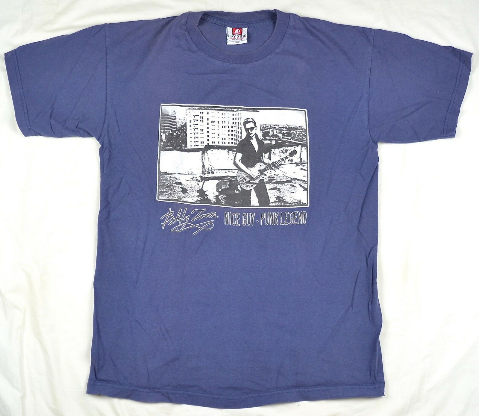 Rare Vintage Billy Zoom Nice Guy Pistol Punk Legend X Guitarist Pistol Guy T-Shirt L Large e03637