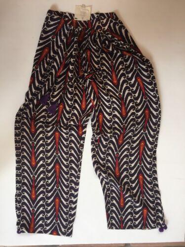 Nuovo con M coulisse Boho Figue con in Pantalone cotone stampa g8zCw5q