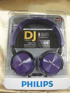 a93ed5937aa Philips Shl3005 PP Headphones With Mic DJ Monitor Style Shl3005 Purple