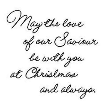 Art Impressions Cling Stamp May the love of our Savior be with you at Christmas