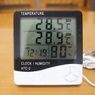 LCD Digital Thermometer Hygrometer Meter Indoor Temperature Humidity Clock Alarm