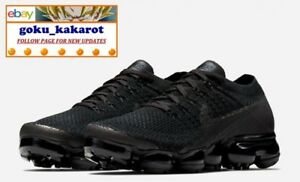 100% authentic 6ec30 16f7b ... release date image is loading nike air vapormax flyknit 1 0 triple  black d9271 1cd86 ...