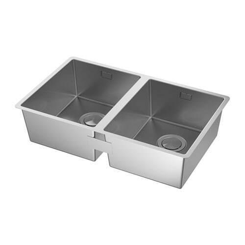 IKEA NORRSJÖN    Lavello incasso, 2 vasche, inox