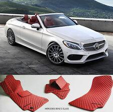 Mercedes Benz C300 C350 C43 C63 AMG Eco Leather Floor Mats 2014 2015 2016 2017