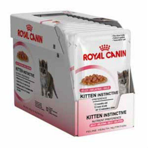 ROYAL CANIN INSTINCTIVE GATTO GATTINI CIBO GELATINA Sacchetto 12 x 85g