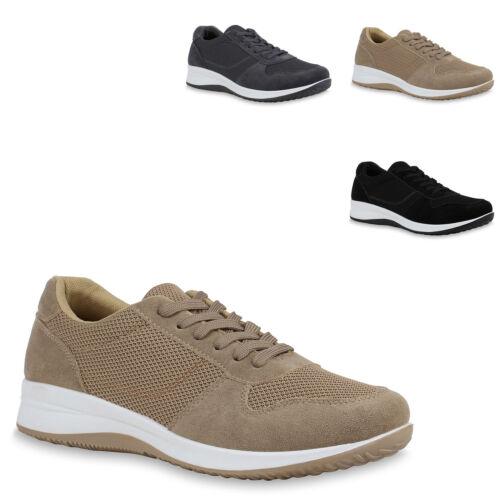 Modische Schnürstiefel Damen Stiefel Basic Boots Blockabsatz 817960 Schuhe