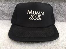 MUMM VSOP Cognac Snapback Hat Trucker Starter Camp Cap Black Mesh Hennessy