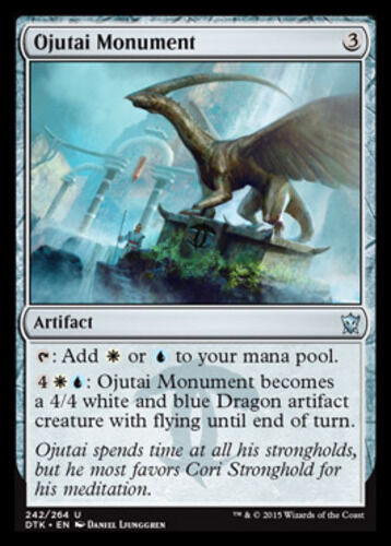 English x4 Ojutai Monument MTG Dragons of Tarkir U M//NM