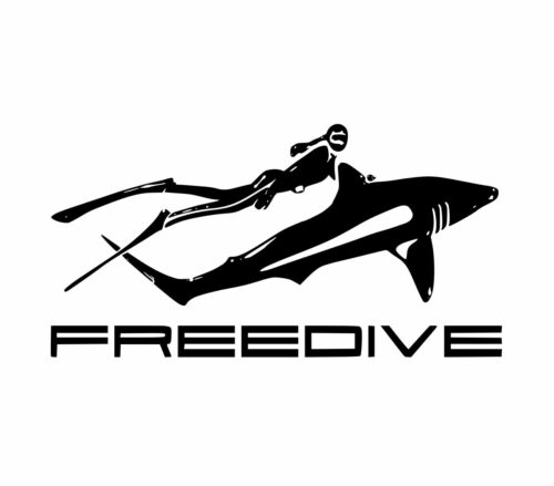 FREEDIVE spearfishing girl sticker diving chick decal spear fishing speargun