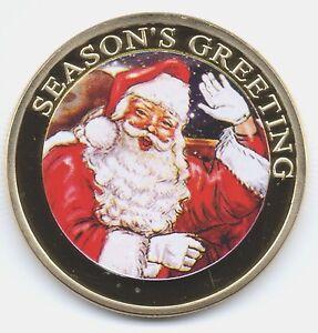 Buon-Natale-MONETA-D-039-ORO-BUONE-FESTE-REGALO-per-l-039-uomo-che-ha-tutto-UK