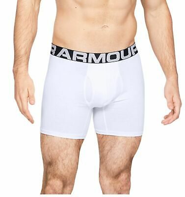 Neue Mode Under Armour Herren-unterhose Charged Cotton® Boxerjock® 15 Cm 3er Pack Weiss Heller Glanz