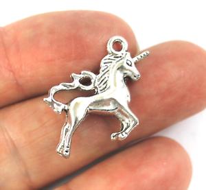 Antiguo Plata Tibetana Metal místico Unicornio Encantos Colgante Perla Artesanía Tarjeta