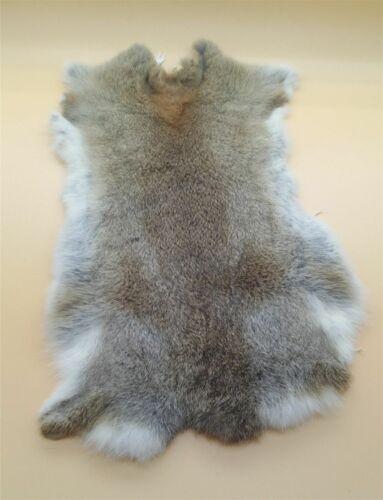2pcs Genuine Yellow Rabbit Fur Tanned Skin Color Natural Fur Crafts Decoration