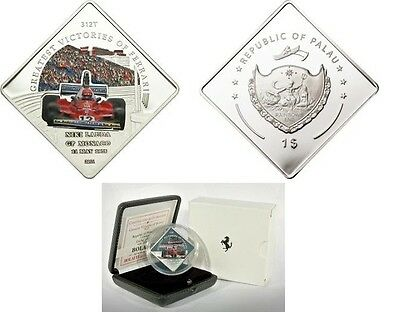 2011 Palau Large Proof Color $1 Ferrari Ag Plt Lauda Beautiful In Colour