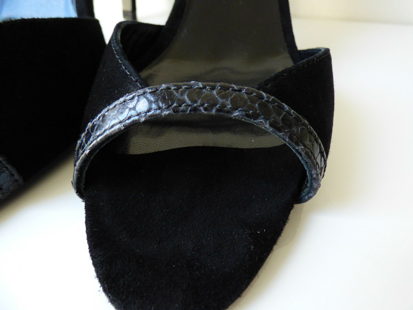 Sandales à talons haut - en cuir suédé et python schwarz BA&SH - haut T41 - bash ea00b3