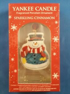 Yankee candle Christmas scented porcelain snowman Ornament ...
