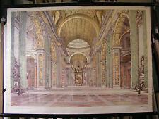 schönes altes Schulwandbild Wandkarte Renaissance 104x76cm vintage~1955 da Vinci