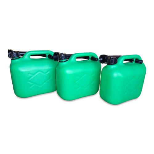 3 x 5 Liter Dieselkanister Benzinkanister UN-Zulassung grün inkl Ausgießer NEU