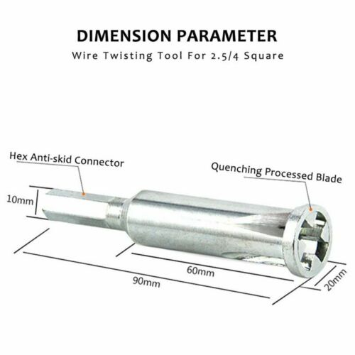 Cable Connector Wire Twist Twisting Tool Stripper for Power Drill Driver