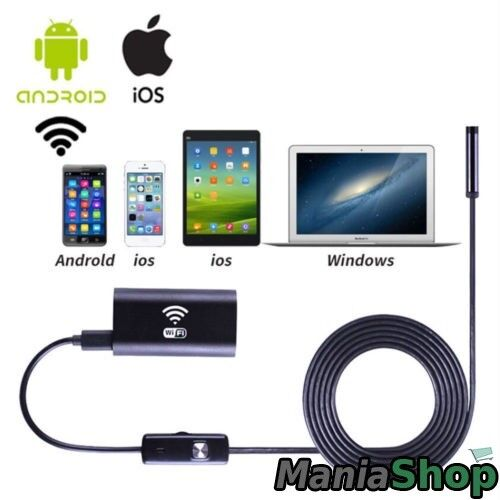 2M Wifi Endoscope Waterproof Inspection Borescope Camera Probe per iPhone BI559
