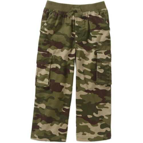 Baby Toddler Boys Green Camo Printed Twill Cargo Pants 24m-5T