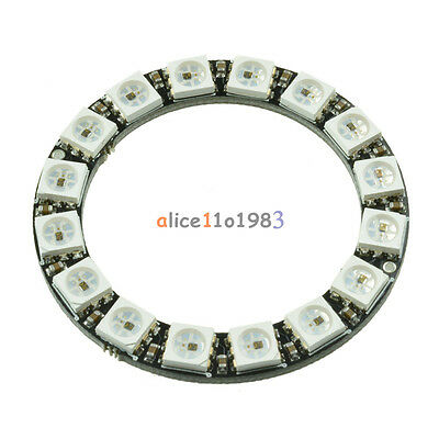 16-Bit RGB LED Ring WS2812 5050 RGB LED + Integrated Drivers For Arduino