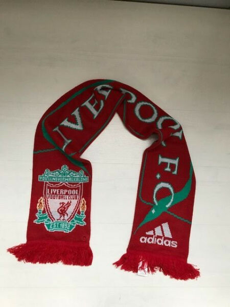 3244 Adidas Liverpool Football Club Sciarpa Scarf Sciarpe Official Distintivo Per Le Sue Proprietà Tradizionali