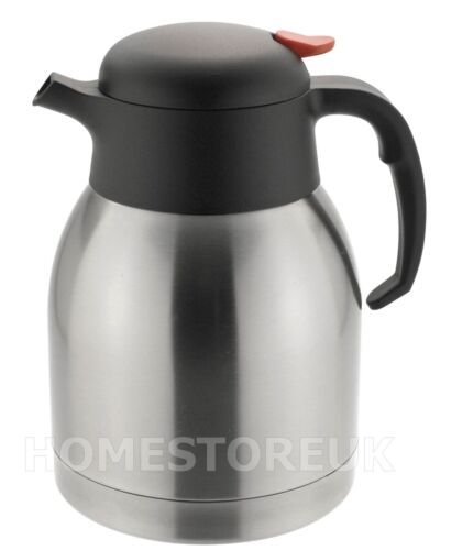 STAINLESS STEEL DOUBLE WALL INSULATING JUG VACUUM THERMOS FLASK TEAPOT COFFEE