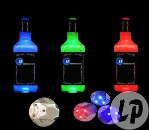 lot-de-10-pastille-lumineuse-LED-adhesive-pour-bouteille-ou-verre-coloris-ROUGE