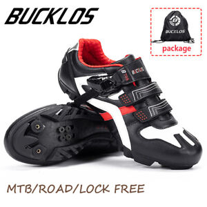 BUCKLOS-MTB-Road-Bike-Mens-Shoes-Gym-Sneakers-Lock-Racing-for-Shimano-SPD-Look