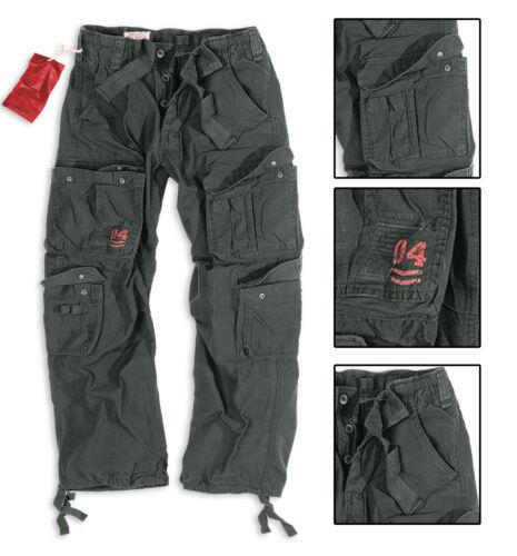 Surplus Pantalon Airborne Noir brut vintage pantalon cargo de combat sas Armée Urban