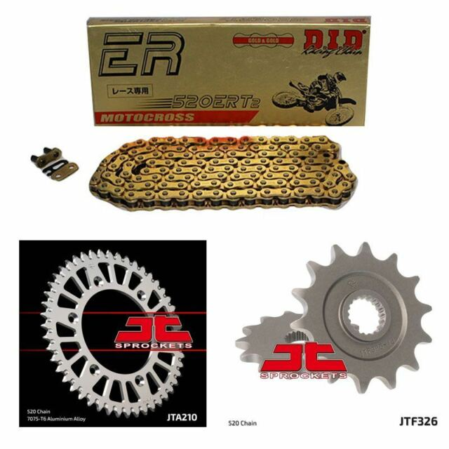 DID 520 ERT2 MX Chain Competition Race Chain Sprocket Kit JTF326/R210 12/49t